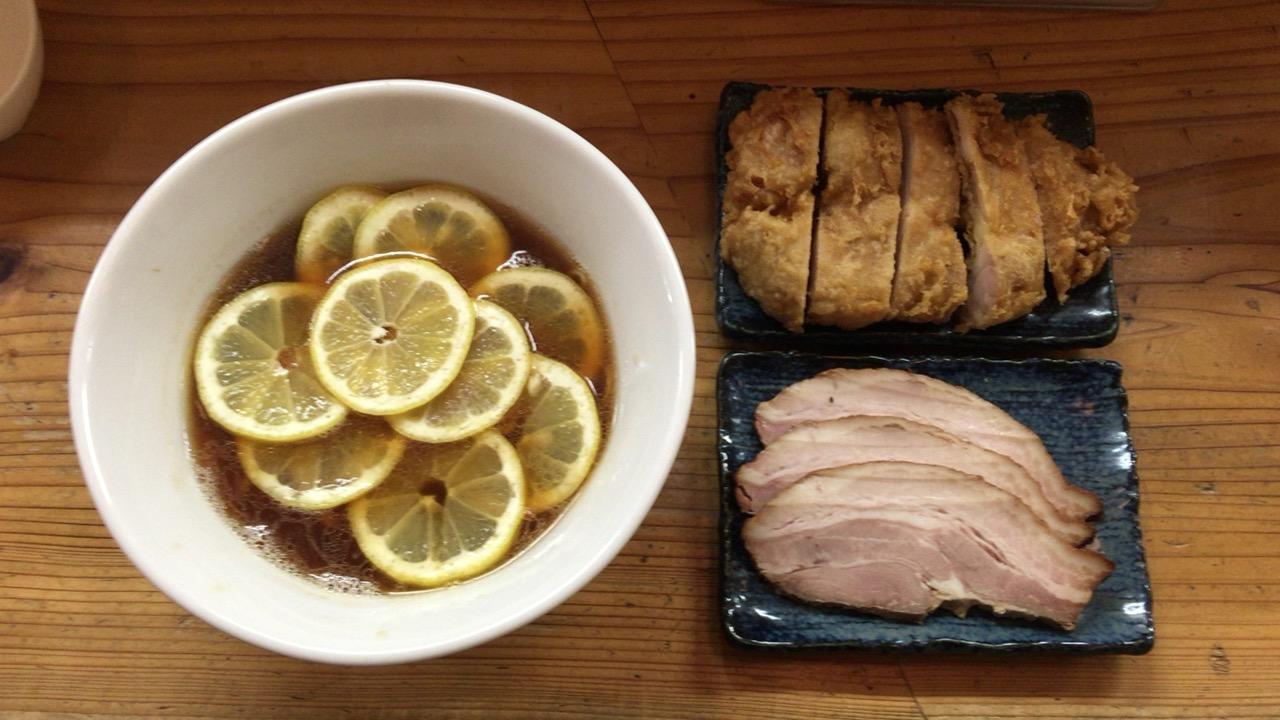 レモンラーメン+鶏天+チャーシュー