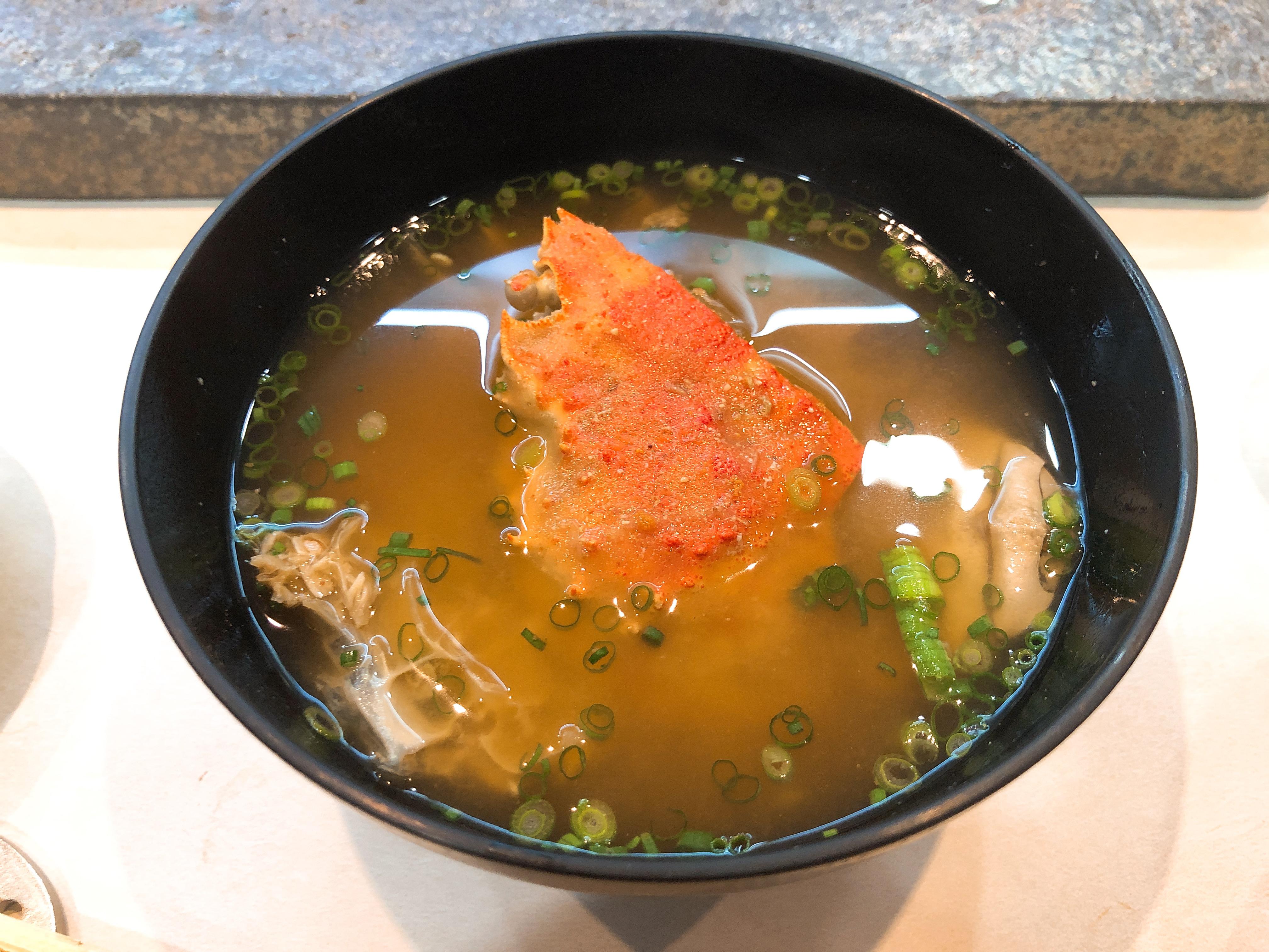 セイコ蟹のお椀